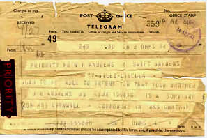 The first telegram.