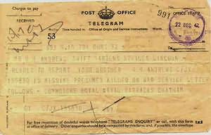 The last telegram.