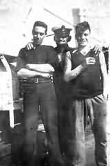 Bill Alsous and shipmates