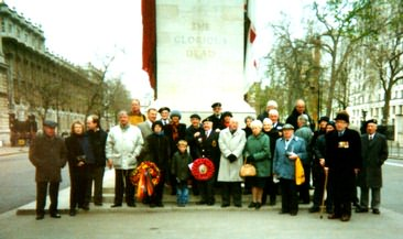 Members at the cenotaph