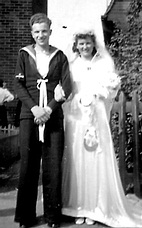 David Cowland and Peggies wedding August 1942.