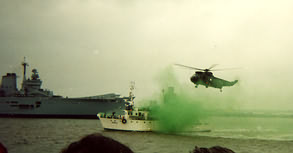 Royal Marines Display team.