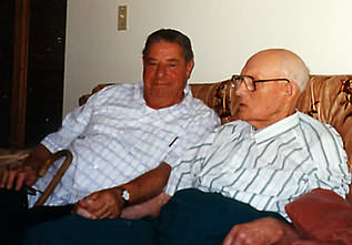 Peter and George in 1995